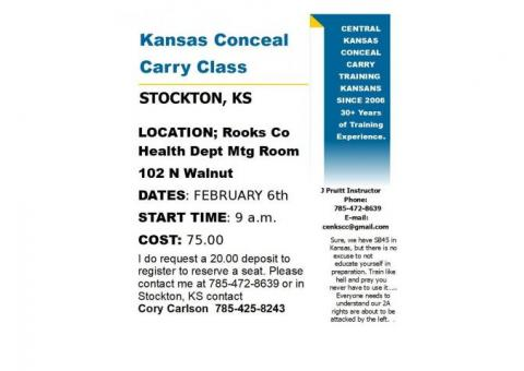 Ks Conceal Carry Class